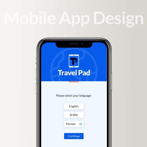طراحی موبایل اپلیکشن تراول پد